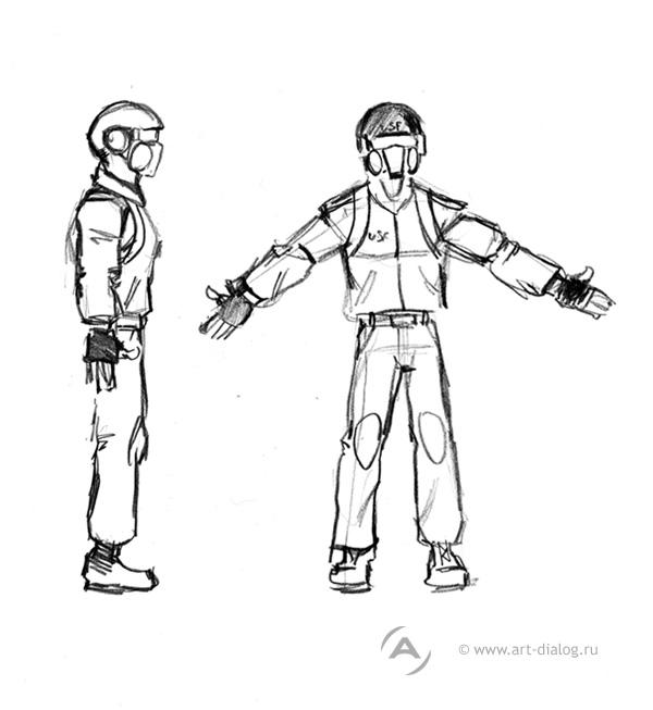 рисунки персонажей: